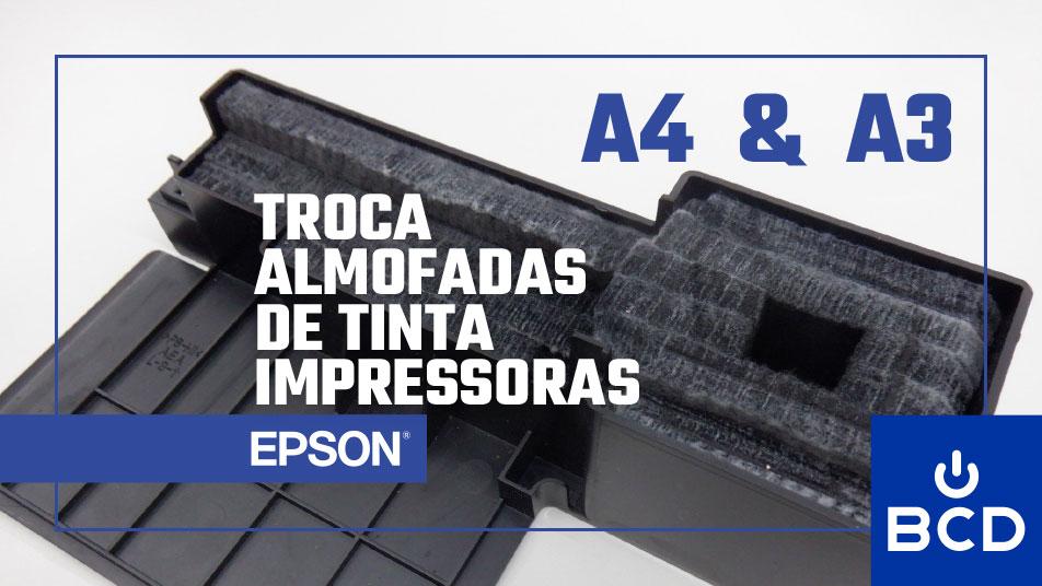 Substituição de almofadas de tinta EPSON